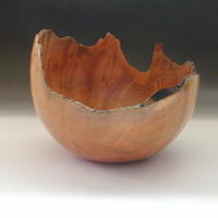 Natural Edged Maple Burl Bowl